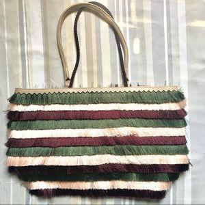 Stella Dot shaggy colorful sample bag New